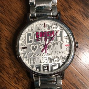 Coach Poppy Silver Watch
